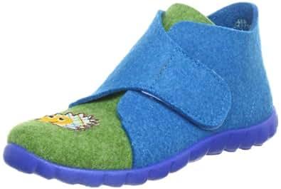 Superfit Happy 10029174, Unisex-Kinder Hausschuhe, Blau (türkis kombi 74), EU 26