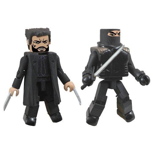 Marvel Minimates The Wolverine Black Suit Wolverine and Hand Ninja