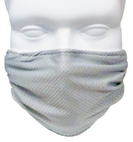 Breathe Healthy Honeycomb Face Mask-Protect your Immune System from Allergns, Pollen, Dust, Mold Spores, Cold & Flu with Antimicrobial Shield - Silver (Silver Protection Cloth compare prices)