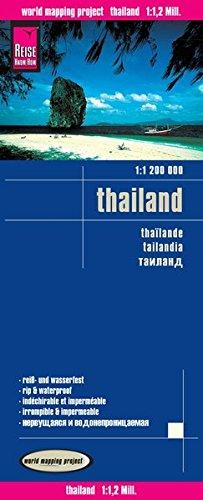 Tailandia, mapa de carreteras impermeable. Escala 1:1.200.000. Reise Know-How.