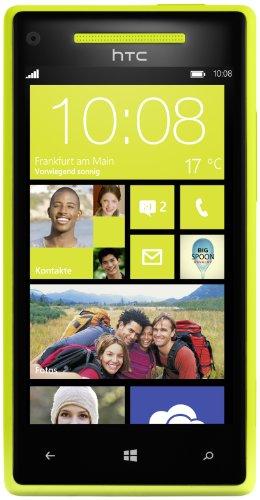 HTC Windows Phone 8X Smartphone (10,9 cm (4,3 Zoll) Touchscreen, Snapdragon, Dual-Core, 1,5GHz, 8 Megapixel Kamera) limelight yellow