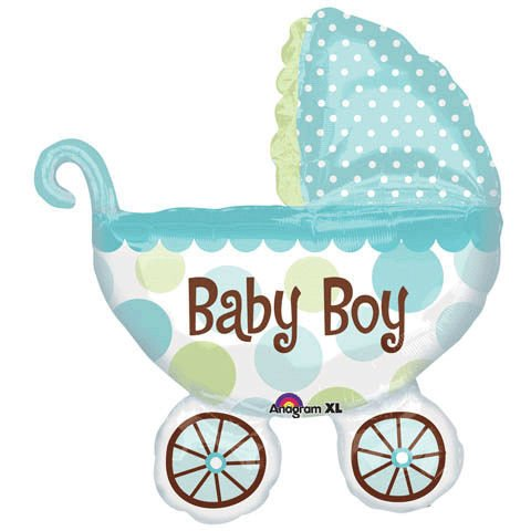 Baby Boy Buggy Shower Balloon Super Shape