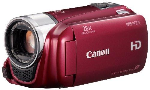 【Amazonの商品情報へ】Canon デジタルビデオカメラ iVIS HF R21 レッド IVISHFR21RD 光学20倍 手ブレ補正 内蔵メモリー32GB