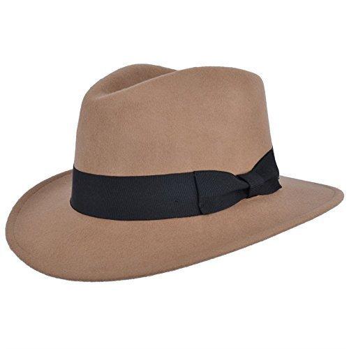 hommes-fait-a-la-main-100-laine-feutre-indiana-style-froissable-chapeau-borsalino-chameau-xl-61cm