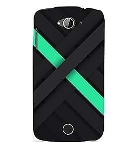 D KAUR Black Pattern Cool Back Case Cover for Acer Liquid Z530