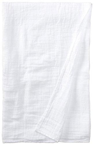I Play. Unisex-Baby Newborn Organic Muslin Swaddle Blanket, White, One Size