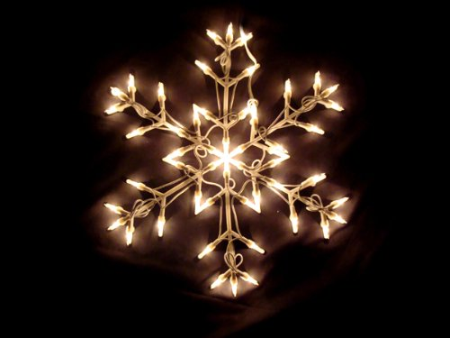 Snowflake window decorations snowflake window antique for 16 lighted snowflake christmas window silhouette decoration