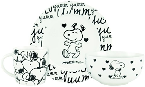 "United Labels AG 0121751 Peanuts presto pezzi set ""Snoopy"", 3 teilig"