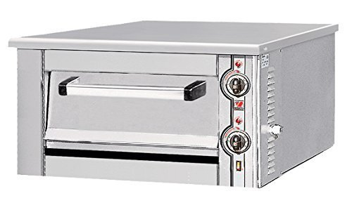 North Pro Gas F80 Commercial Electric Pizza Oven with Fire Resistant Plate - 4 pizzas Ø300mm (230V-AC / 400V-2N-AC-50Hz) (Made in Greece)