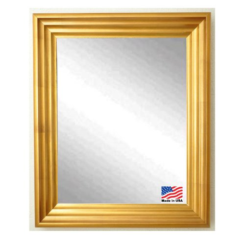 American Made Rayne Vintage Gold Wall Mirror, 25.5 X 31.5 front-689600