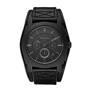 Fossil - FS4617 - Montre Homme - Quartz Analogique - Cadran Noir - Bracelet Cuir Noir