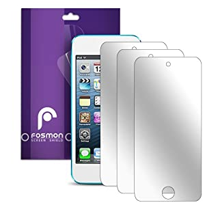 Fosmon Mirror Screen Protector Shield for iPod Touch 5th Generation 5G 5 - 3 Pack