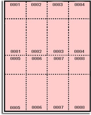 400 Label Outfitters® Pink Pre Numbered Raffle and Event Tickets - Laser and Inkjet Printable, 50 Sheets, 8 Numbered Tickets and Stubs per Sheet (Event Tickets Numbered compare prices)