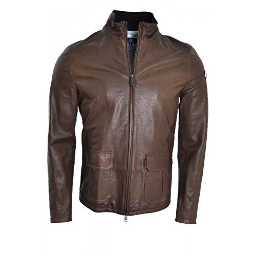 La-Martina-La-Martina-Leather-Jacket-Coat-Brown-For-Man