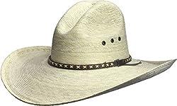BULL-SKULL HATS, PALM LEAF COWBOY HAT, GUS 505