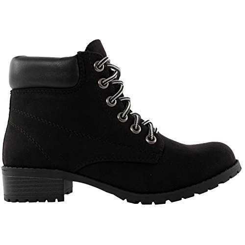 Soda Womens Ankle Work Boots Suede Shoelace Combat Army Booties EQUITY-S (Soda Equity Boots compare prices)