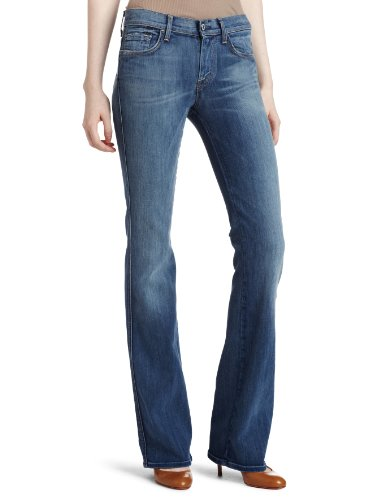 7 For All Mankind Women's Mid Rise Bootcut Jean, Spring Blue, 30