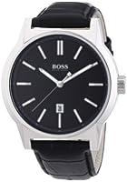 Hugo Boss - 1512911 - Architecture - Montre Homme - Quartz Analogique - Cadran Noir - Bracelet Cuir Noir