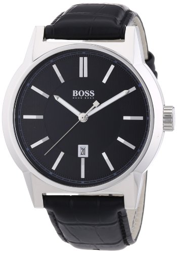 Hugo Boss  1512911 - Reloj de cuarzo para hombre, con correa de cuero, color negro