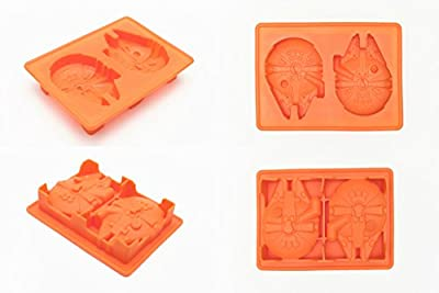 Star Wars Ice Cubes Trays Silicone Molds for Candy Gummy Chocolate Crayon Soap - Set of 6
