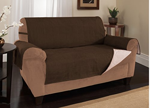Furniture Fresh - New and Improved Anti-Slip Grip Furniture Protector with Stay Put Straps and Water Resistant Microsuede Fabric (XL Sofa, Chocolate (Extra Large Sofa Cushions compare prices)