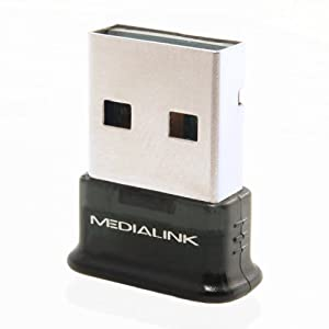 Medialink USB Bluetooth Adapter - Version 4.0 (Newest Bluetooth Version Available) Class 2 Smart Ready Adapter w/ Low Energy Technology - Windows 8 32/64 Compatible