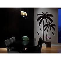Vinyl Wall Art Decal Sticker Palm Tree Island w Birds BIG 44