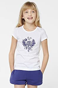 Girl's Short Sleeve Tennis Racquet Graphic T-Shirt