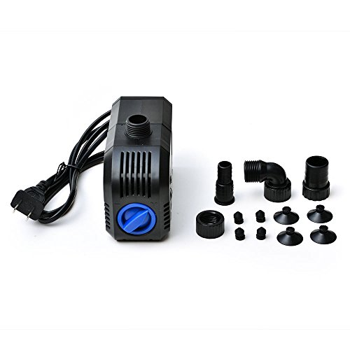 AGPtek Electric Submersible Pump Fountain Pump for Indoor/Outdoor with 1.3m/4.2ft cable length - 400GPH