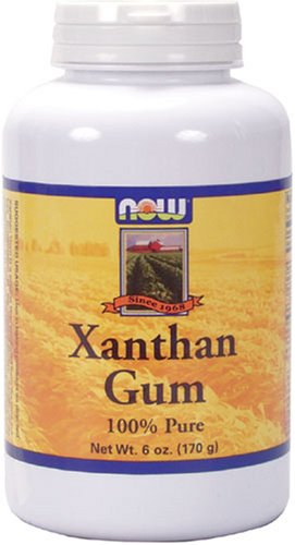 NOW Foods Xanthan Gum,  6 Ounce Bottles (Pack of 4)