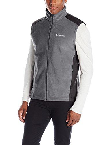 Columbia Men's Steens Mountain Vest, Grill/Black, Large