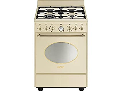 Smeg co68gmpd9 gaz Combi Crème Beige Turbo Feux de position Air Chaud Nostalgie 60 cm
