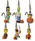 Simpsons Halloween Cell Phone Charms Series 1 - Set of 6