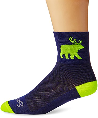 SockGuy Men's Bear Me Sock, Blue, Large/X-Large (Cycling Sock Guy compare prices)