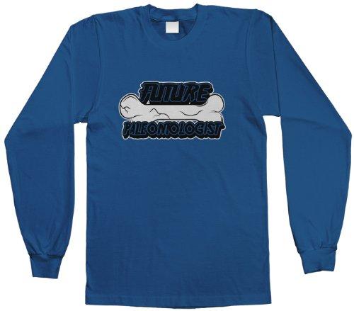 Threadrock Big Boys' Future Paleontologist Youth Long Sleeve T-Shirt S Royal Blue front-1026023