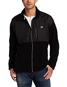 New Balance Men's Micro Fleece Zip Front Jacket, Large, Black