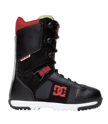 DC Men's Super Park 12 Performance Snowboard Boot,Black/Red,10.5 M US