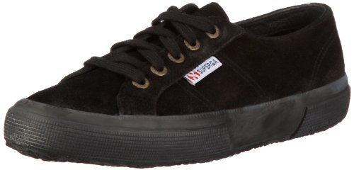Superga Men's 2750-Sueu Black Lace Up Gs003Sr0 9.5 UK