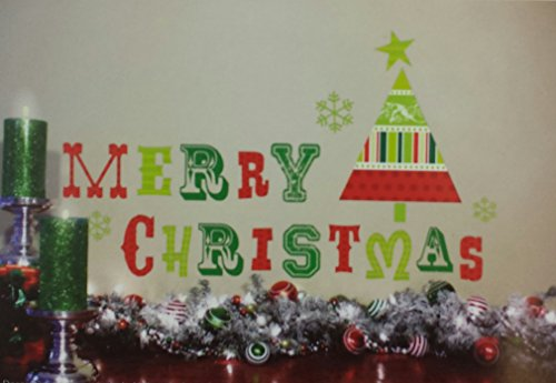 Merry Christmas Self Adhesive Wall Art Decoration