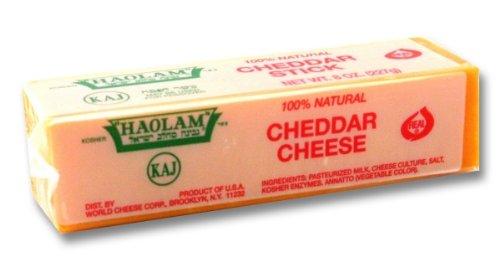 Haolam - Cholov Yisroel Orange Cheddar Sticks (8 oz.) - 6 Pack