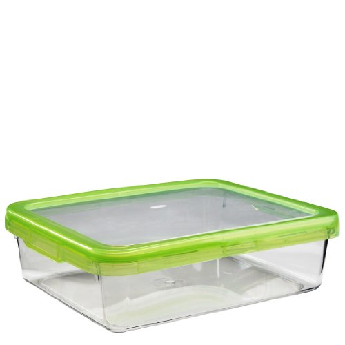 OXO Good Grips LockTop 101-2/5-Ounce Rectangle Container with Green Lid (Oxo Clear Container compare prices)
