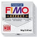 1 x STAEDTLER Glitter White (052) FIMO Effect Polymer Modelling Moulding Clay Block Colour 56g