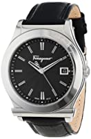 Salvatore Ferragamo Men's F62LBQ9909 S009 1898 Stainless-Steel Leather Watch from Salvatore Ferragamo