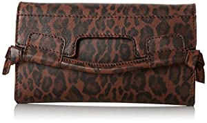 Foley + Corinna City On A String Wallet,Brown Leopard,One Size