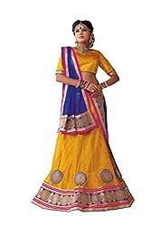 Kanheyas Net Semi- Stitched Lehanga with Chiffon Dupatta