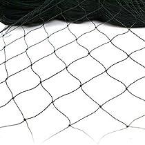 Zeny Bird Net Netting 50' X 50' for Bird Poultry Aviary Game Pens , black (50' X 50')