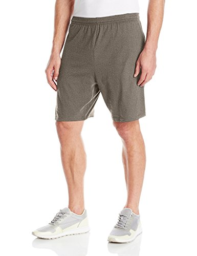 Hanes Men's Jersey Short with Pockets, Camo Green Heather, X-Large Green Camouflage Shorts