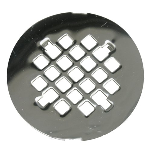 Lasco 03-1355 4-1/4-Inch Snap In Style Shower Drain Grate, Chrome Plated