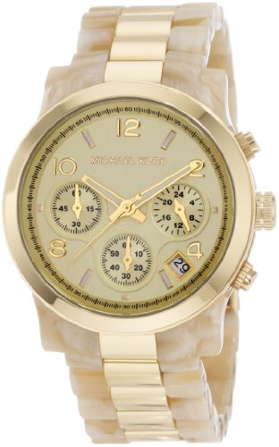 Michael Kors Mk5139 Ladies Watch with Horn Gold Plated Bracelet andGold Dial