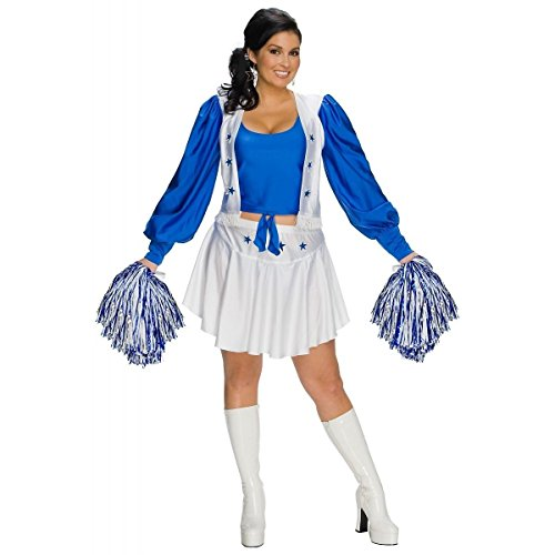 [GSG Dallas Cowboys Cheerleader Women Plus Size Sexy Football Halloween Costume] (Dallas Cowboys Cheerleader Adult Plus Costumes)